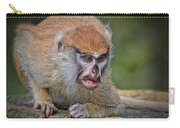 Baby Patas Monkey On Guard  Carry-all Pouch