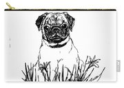 Baby Pug In Flowers Carry-all Pouch