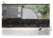 Baby Seagull Running In The Rain Carry-all Pouch by Bob Orsillo
