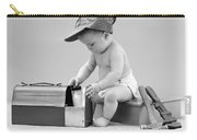 Baby With Work Tools And Lunch Pail Carry-all Pouch