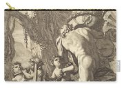 Bacchanal With Figures Carrying A Vase Carry-all Pouch