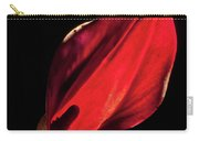 Back Lit Black Calla Lily Carry-all Pouch