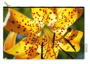 Back-lit Yellow Tiger Lily Carry-all Pouch