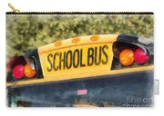 Back To School Bus Watercolor Carry-all Pouch