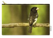Backed Up Rose Breasted Grossbeak Carry-all Pouch