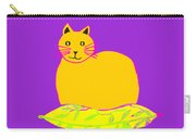 Background Colour Choice Saffron Cat Carry-all Pouch