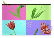 Background With Tulips Carry-all Pouch