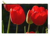 Backlit Red Tulips Carry-all Pouch