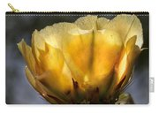 Backlit Yellow Cactus Flower Carry-all Pouch