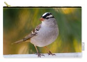 Backyard Bird - White-crowned Sparrow Carry-all Pouch