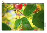 Backyard Garden Series - Sunlight On Raspberries Carry-all Pouch
