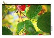 Backyard Garden Series - Sunlight On Raspberries Carry-all Pouch