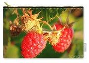 Backyard Garden Series - Two Ripe Raspberries Carry-all Pouch