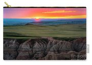Badlands National Park At Sunset Carry-all Pouch