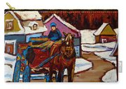 Baie Saint Paul Quebec Country Scene Carry-all Pouch