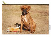 Bailey The Boxer Puppy Carry-all Pouch