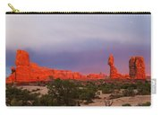 Balance Rock At Sunset, Arches National Park, Utah Usa Carry-all Pouch