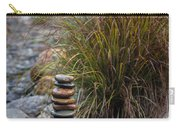 Balancing Zen Stones In Countryside River V Carry-all Pouch