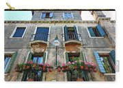 Balcony With Flowers In Venice, Italy Carry-all Pouch