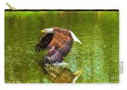 Bald Eagle Cutting The Water Carry-all Pouch