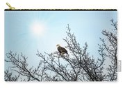 Bald Eagle In A Tree Enjoying The Sunlight Carry-all Pouch