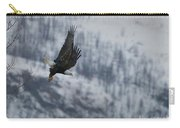 Bald Eagle In Flight-signed-#4016 Carry-all Pouch