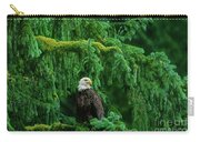 Bald Eagle In Temperate Rainforest Alaska Endangered Species Carry-all Pouch