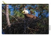 Bald Eagle In The Nest Carry-all Pouch