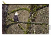 Bald Eagle On Mossy Branch Carry-all Pouch