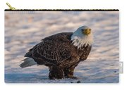 Bald Eagle Over Its Prey Carry-all Pouch