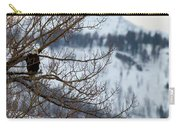 Bald Eagle Perched-signed-#4008 Carry-all Pouch