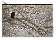 Bald Eagle-signed-#4879 Carry-all Pouch