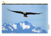 Bald Eagle Soars Over Hood Canal Carry-all Pouch