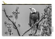 Bald Eagle Warning In Black And White Carry-all Pouch