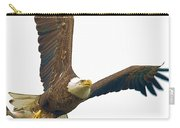 Bald Eagle With Fish Carry-all Pouch