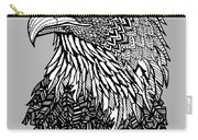 Bald Eagle Zentangle Carry-all Pouch