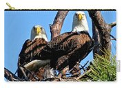 Bald Eagles In Nest Carry-all Pouch