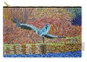 Bald Head Island, Gator, Blue Heron Carry-all Pouch