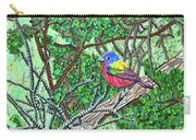 Bald Head Island, Painted Bunting At Defying Gravity Carry-all Pouch