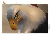 Bald-headed Eagle Sculpture Carry-all Pouch