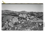 Bald Mountain Rock Formation In Black And White Carry-all Pouch