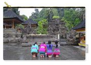 Bali Temple Women Bowing Carry-all Pouch