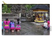 Bali Temple Women Bowing Panoramic Carry-all Pouch