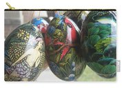 Bali Wooden Eggs Artwork Carry-all Pouch