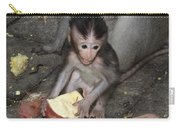 Balinese Baby Monkey Eating Carry-all Pouch