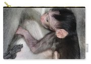 Balinese Baby Monkey Feeding Carry-all Pouch