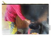 Balinese Lady Roasting Coffee Over The Fire Carry-all Pouch