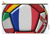 Ball With Flag Of France In The Center Carry-all Pouch