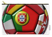 Ball With Flag Of Portugal In The Center Carry-all Pouch