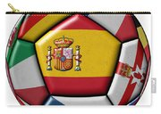 Ball With Flag Of Spain In The Center Carry-all Pouch